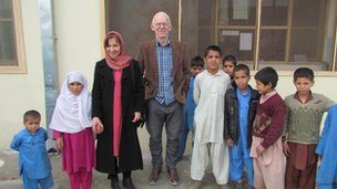 The Norgroves at a home for widows and children in Afghanistan