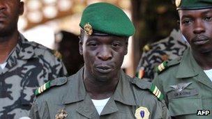 Captain Amadou Sanogo seized power in a coup last month