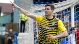 Celtic defender Charlie Mulgrew celebrates after scoring against Kilmarnock