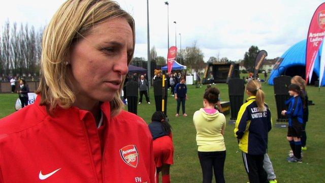 Arsenal skipper Faye White