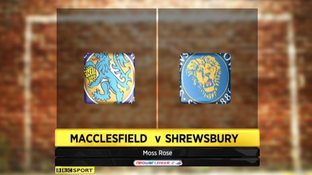 Macclesfield 1-3 Shrewsbury