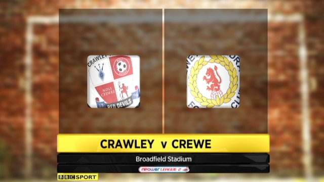 Crawley 1-1 Crewe