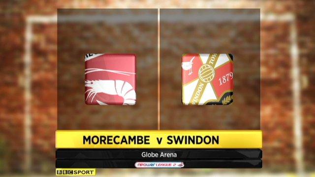 Morecambe 0-1 Swindon