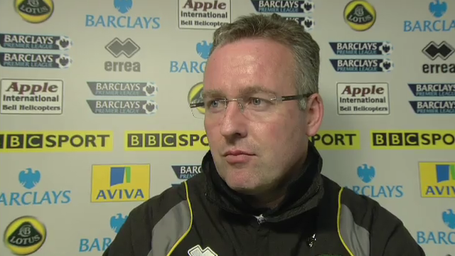Norwich boss Paul Lambert