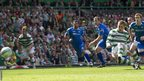 Celtic's Kris Commons has a penalty saved in a match against St Johnstone