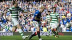 Steven Naismith scores for Rangers against Celtic