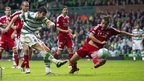 Charlie Mulgrew scores for Celtic against Aberdeen