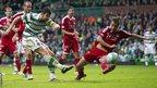 Charlie Mulgrew scores for Celtic against Aberdeen
