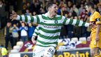 Gary Hooper celebrates after scoring for Celtic against Motherwell