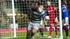 Joe Ledley celebrates scoring for Celtic against Rangers