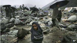 Survivors of the Pakistan earthquake