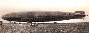 R34 in Mineola, 1919