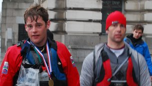 Race winners Richard Hendron and James King 
