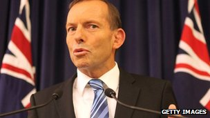Tony Abbott, file image from 27 February 2012