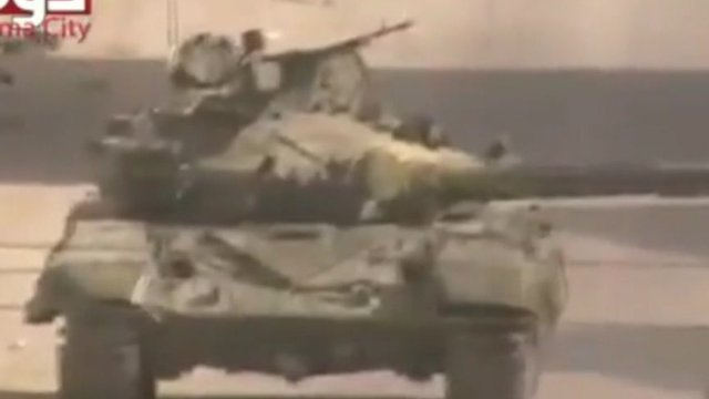 Syrian army tank