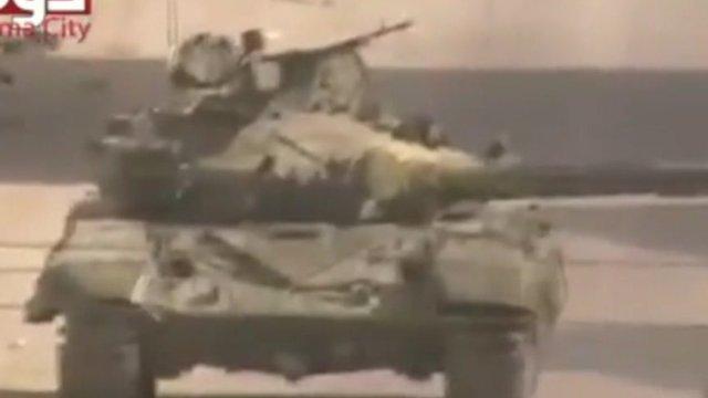 Syrian army tank