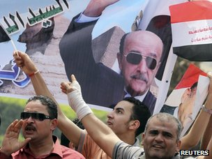 Supporters of Omar Suleiman in Cairo (8 April 2012)