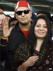 Yuvraj Singh back to India after treatment