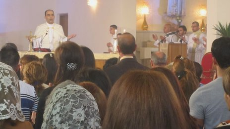 Easter Mass at St Joseph&#039;s Catholic Church in Baghdad (8 April 2012)