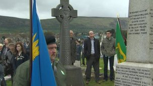 easter rising ceremony at milltown cemetery
