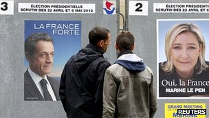 Campaign posters in Paris (9 Apr 2012)