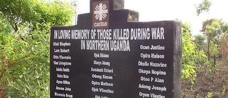 War memorial in northern Uganda