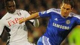 Mahamadou Diarra of Fulham (left) and Chelsea's Frank Lampard