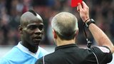 Mario Balotelli is sent off by Martin Atkinson
