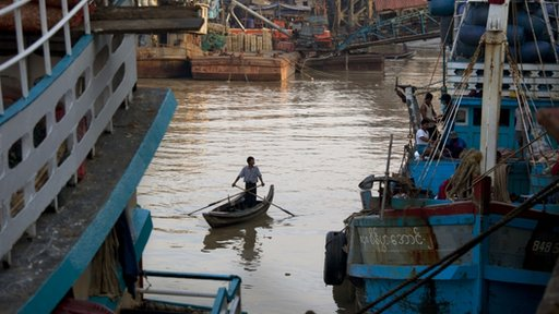 fishing boat in Burma