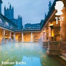 Roman Baths stamp