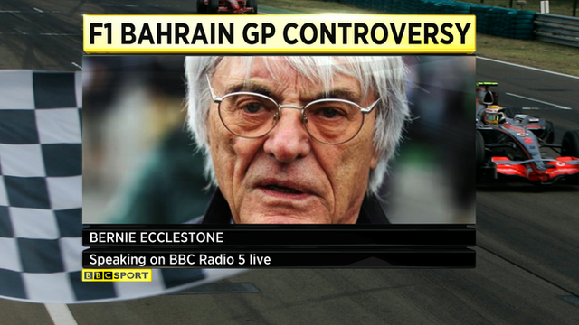 Formula 1 boss Bernie Ecclestone