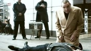 Still of Vinnie Jones CPR advert