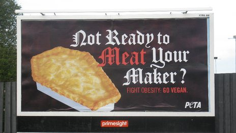 A billboard, created by Peta