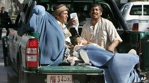 Victims of the suicide attack in Guzara district of western Helmand province on 10 April 2012