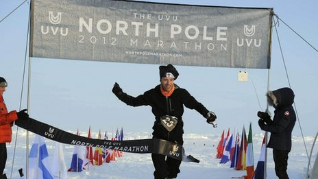 Dr Andrew Murray wins North Pole marathon