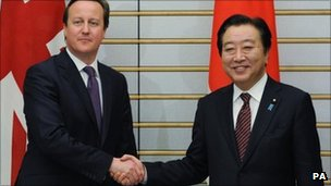 David Cameron meets Japanese PM Yoshihiko Noda