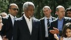 Kofi Annan visits refugee camps for Syrians in Turkey - 10 April 2012