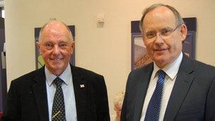 Jack Honeybill and Guernsey Bailiff, Richard Collas