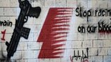 Graffiti against holding the Formula One Grand Prix in Bahrain in the village of Barbar, west of Manama, (April 9, 2012)