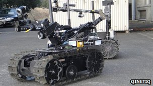 Talon radiation reading robot