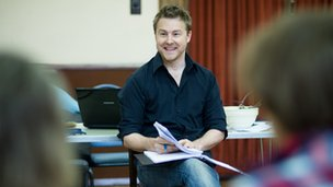 Samuel West in rehearsals