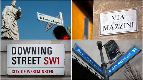 Streets named after men