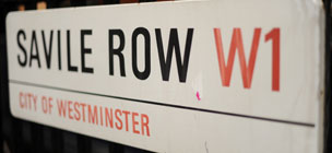 Savile Row street sign