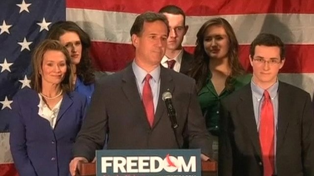 Rick Santorum and his family