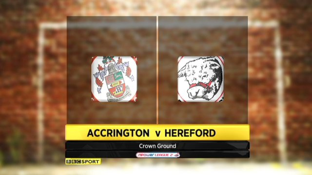 Highlights - Accrington 2-1 Hereford