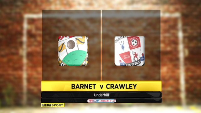 Highlights - Barnet 1-2 Crawley
