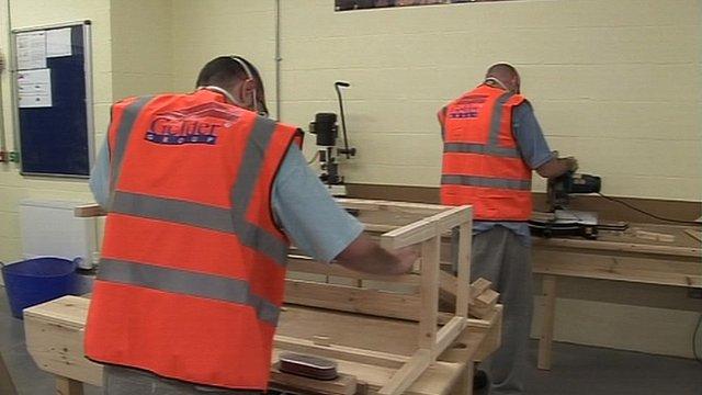 Prisoners in workshop