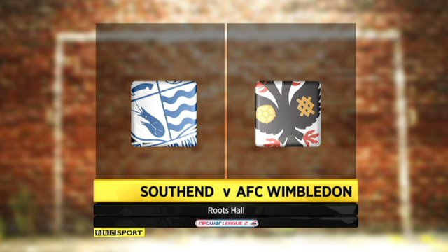 Highlights - Southend 2-0 AFC Wimbledon