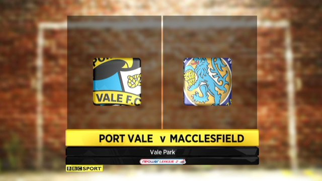Highlights - Port Vale 1-0 Macclesfield