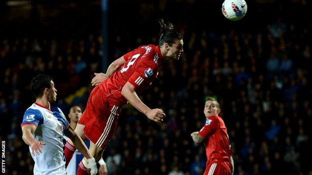 Andy Carroll heads the winner